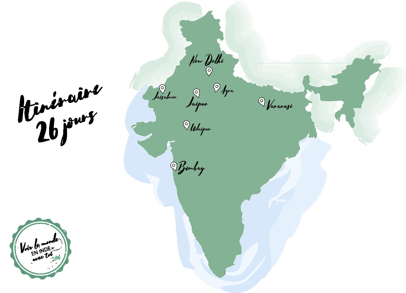Bilan Inde Itinéraire budget tour du monde